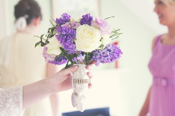 Vintage 1960s Spring Wedding Purple Lilac Bridal Bouquet http://www.flukephotography.co.uk/