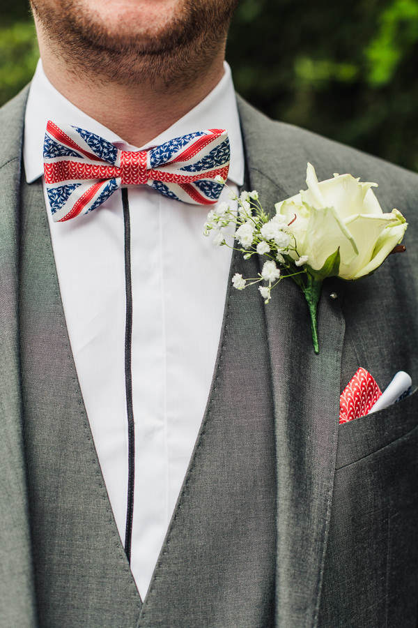 1940s Vintage British Wedding Union Jack Bow Tie Groom http://www.samantha-j.co.uk/