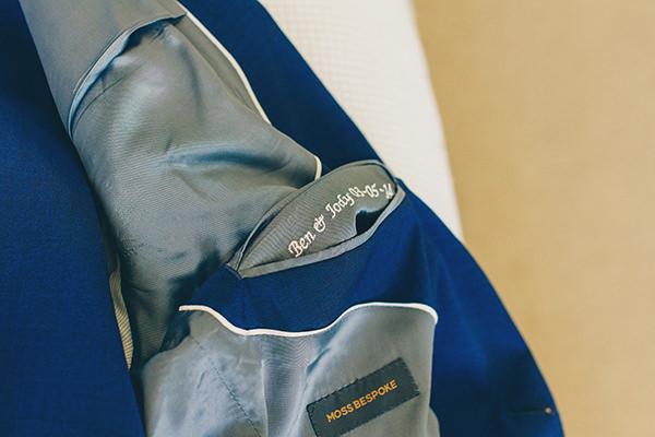 Charming Homemade Blue Wedding Personal Suit Jacket Groom http://www.lifelinephotography.co.uk/
