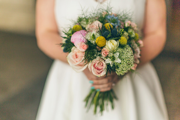 1950s Spring Village Fete Wedding Spring Bouquet Bride http://www.lifelinephotography.co.uk/