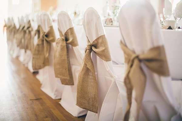 1950s Spring Village Fete Wedding Hessian Chairs Covers http://www.lifelinephotography.co.uk/