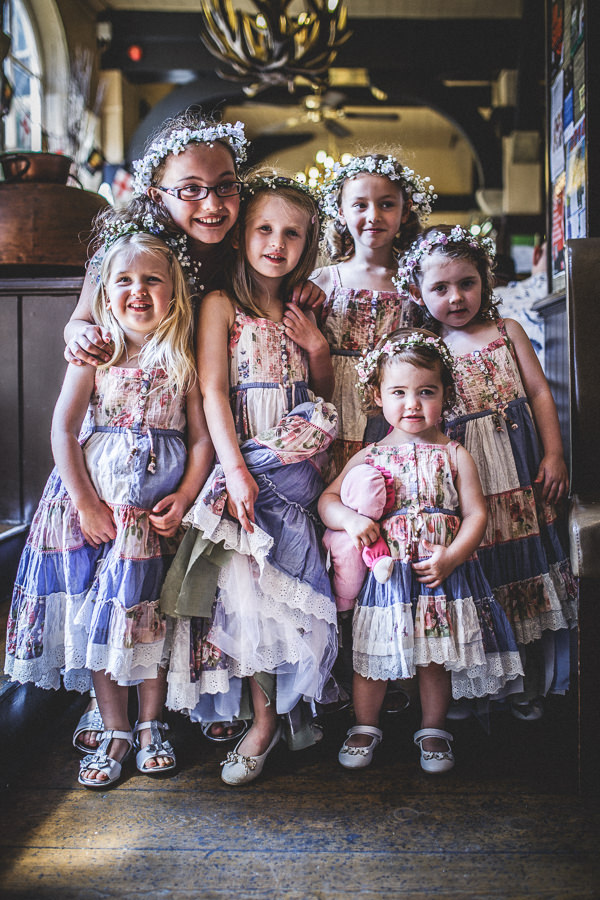 Colourful Festival Wedding Flower Girls http://www.pixiesinthecellar.co.uk/