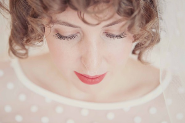 Quirky City Wedding Natural Make Up Red Lip Bride http://www.philippajamesphotography.com/