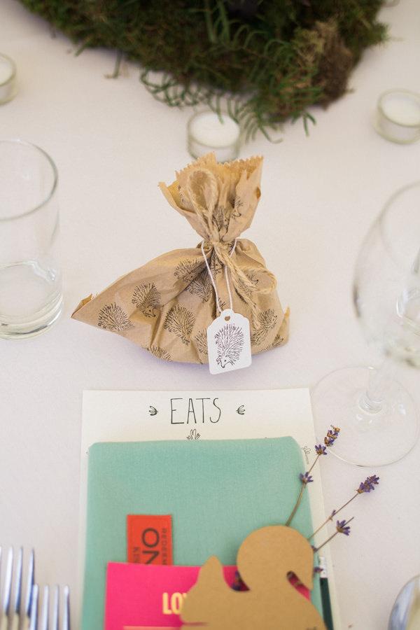 Whimsical Woodland Fairytale Wedding Hedgehog Food Favours Bags http://www.lisadawn.co.uk/