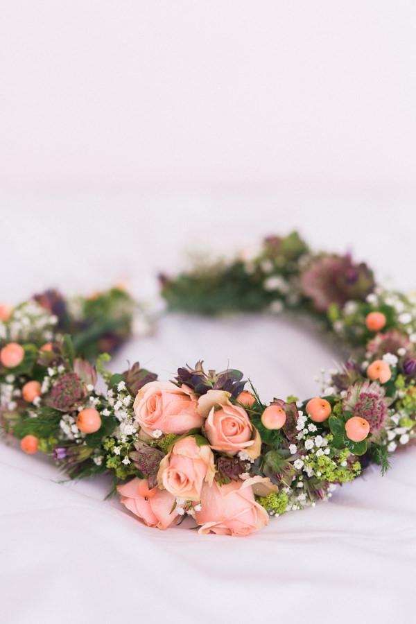 Whimsical Woodland Fairytale Wedding Flower Crown Garland Halo Hair http://www.lisadawn.co.uk/