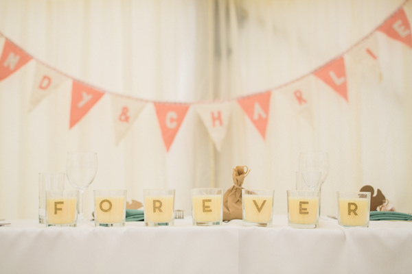 Whimsical Woodland Fairytale Wedding Letter Candles http://www.lisadawn.co.uk/