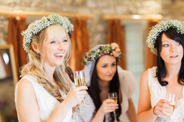 Whimsical Woodland Fairytale Wedding Flower Crowns Bridesmaids http://www.lisadawn.co.uk/