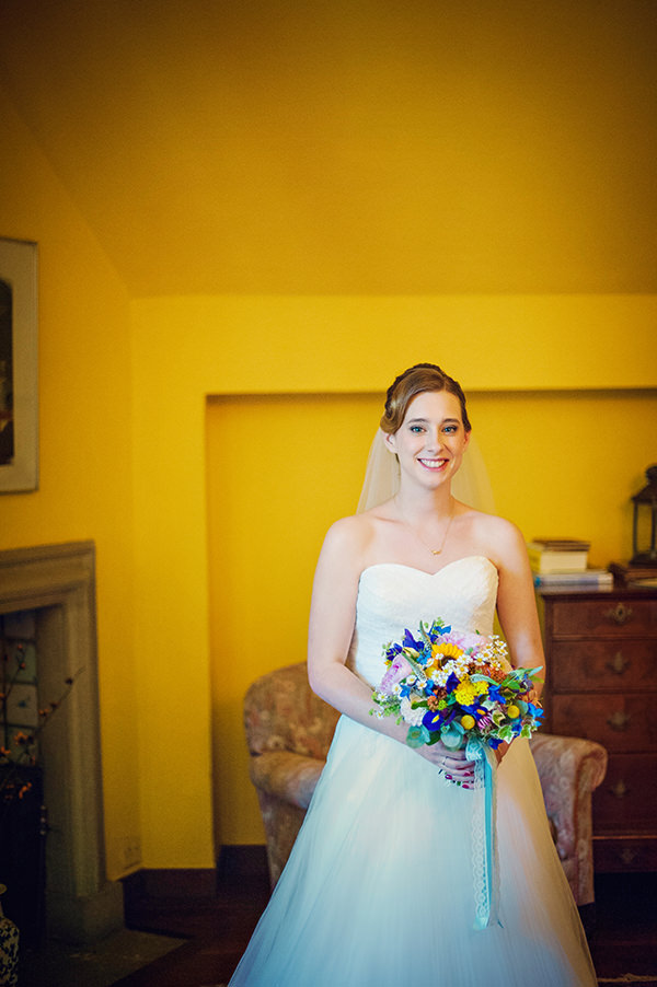 Ronald Joyce Pricilla Dress Bride Multicolour Homemade Wedding http://www.photographybyvicki.co.uk/blog/