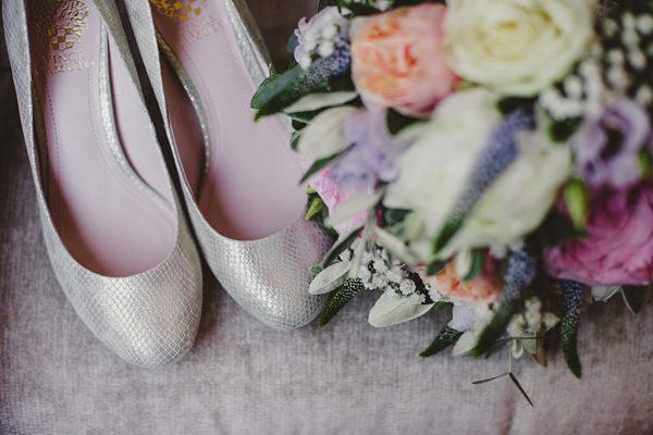 Stylish Rustic Barn Wedding Silver Shoes Bride http://www.lolarosephotography.com/