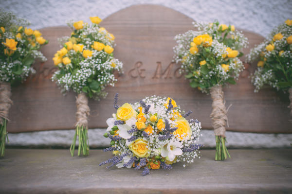 Country Rustic Yellow Barn Wedding Bridal Bouquet http://www.sophieduckworthphotography.com/