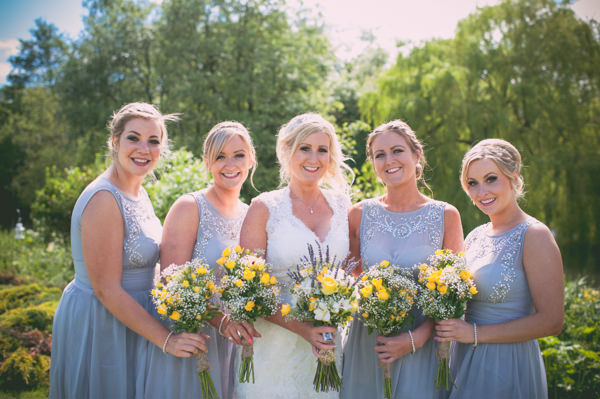 Country Rustic Yellow Barn Wedding Blue Bridesmaid Dresses http://www.sophieduckworthphotography.com/