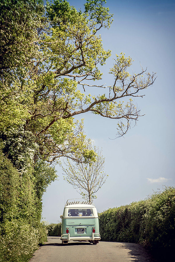 VW camper Natural Rural Seasonal Wedding http://martamayphotography.co.uk/