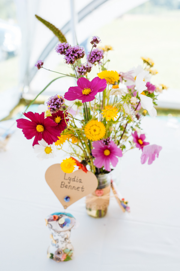 Picnic Countryside Fete Wedding Pink Yellow Flowers Tables http://www.daffodilwaves.co.uk/