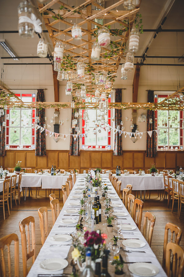 Magical Crafty Outdoorsy Village Hall Wedding Decor http://www.foxleyphotography.com/
