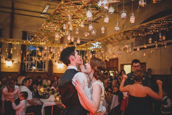 Candelit Jam Jars Lighting Fairy Lights Magical Crafty Outdoorsy Village Hall Wedding http://www.foxleyphotography.com/