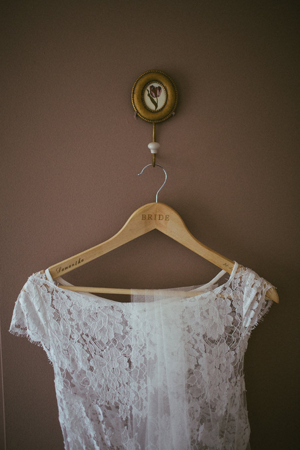 Quirky Stylish Barn Wedding Custom Bride Dress Hanger  http://www.mikeandtom.co.uk/