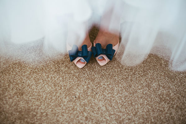 Quirky Stylish Barn Wedding Bow Peep Toe Shoes Bride  http://www.mikeandtom.co.uk/