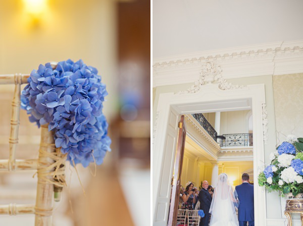 Timeless Modern Hydrangea Wedding Flowers Aisle Chairs http://www.cottoncandyweddings.co.uk/