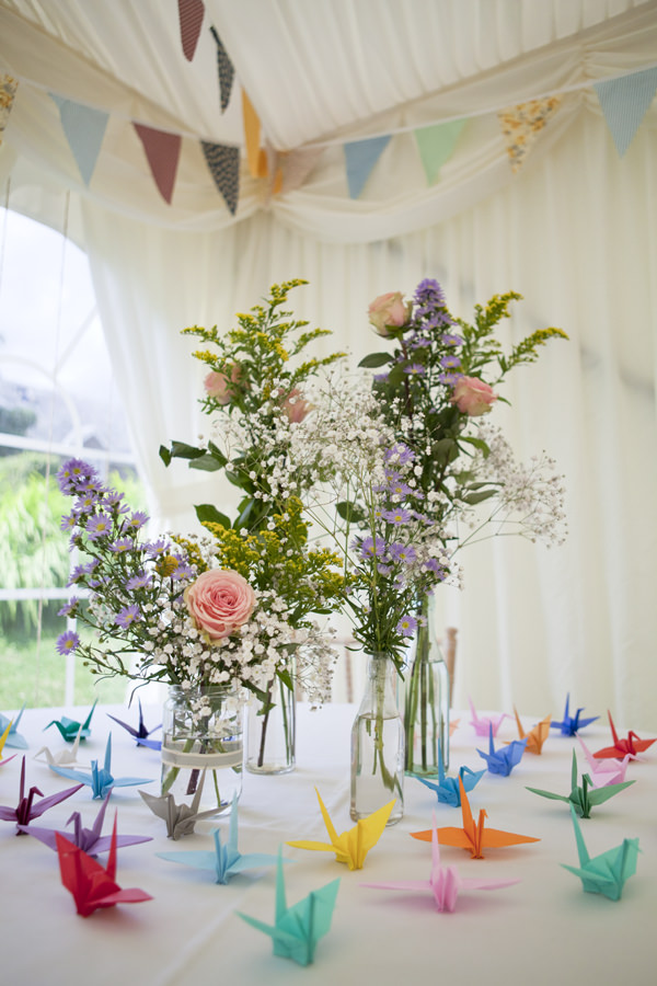 Crafty Colourful DIY Flowers Bottles Country Wedding http://matildarosephotography.com/