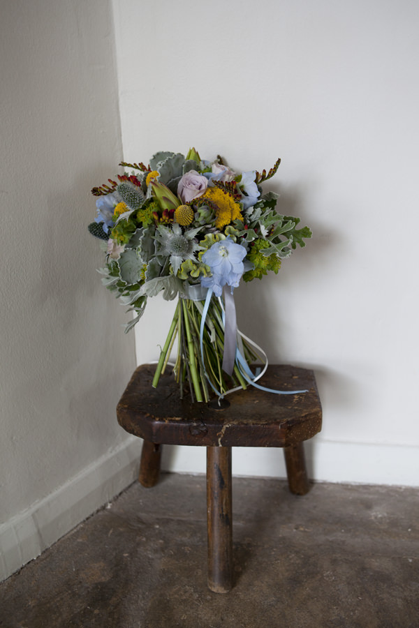 Wild Pretty Bridal Bouquet Crafty Colourful Country Wedding http://matildarosephotography.com/