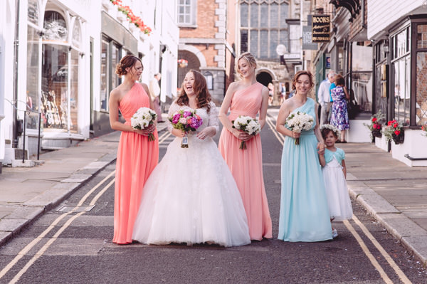 Bright Light Peach Wedding Pastel Bridesmaids http://www.annapumerphotography.com/
