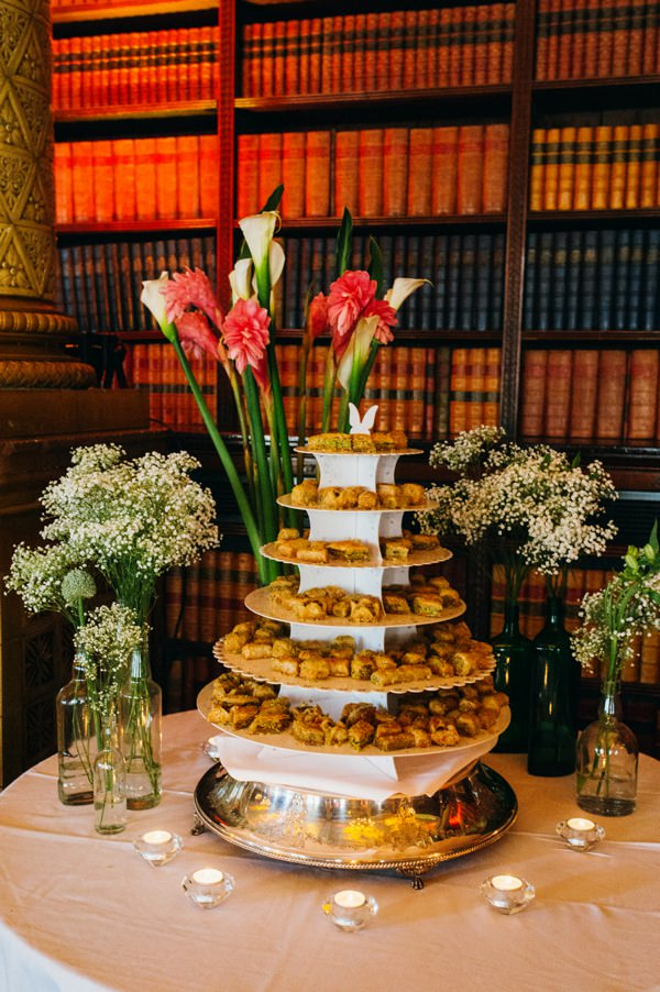 Party London One Whitehall Place Wedding baklava cake http://www.babbphoto.com/