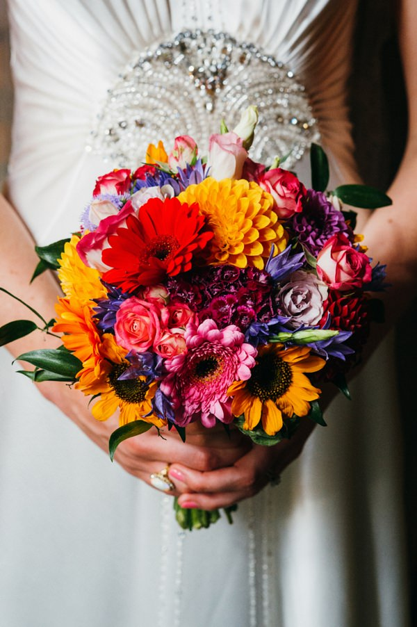 Party London One Whitehall Place Wedding Multicoloured Colorful Bridal Bouquet  http://www.babbphoto.com/