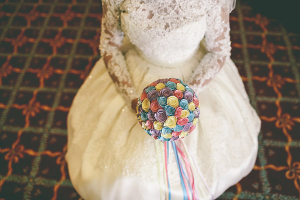 Kitsch Retro Quirky Eccentric Candy Wedding Origami Flower Bouquet Bridal http://www.emmaboileau.co.uk/