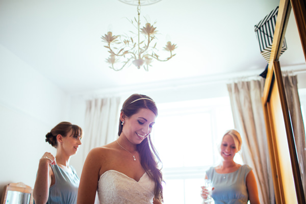 Relaxed Travel Pub Marquee Garden Wedding Long Hair Bride http://www.zoetropeweddingphotography.co.uk/