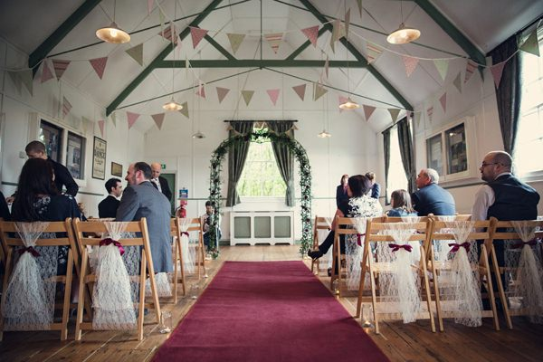 Small Village Hall Tea Cup Wedding Lace Ribbon Chairs http://assassynation.co.uk/