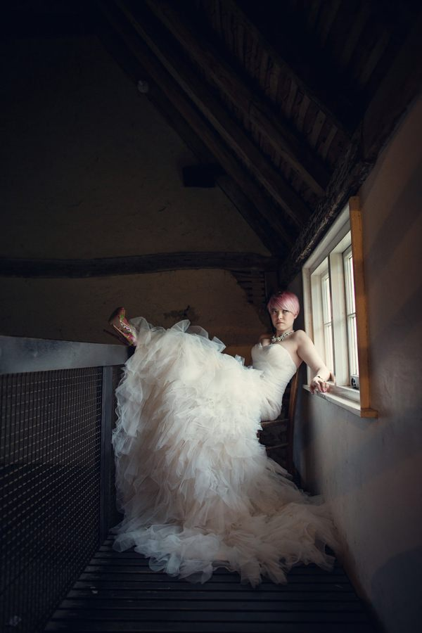 Fishtail Tulle Dress Bride Small Village Hall Tea Cup Wedding http://assassynation.co.uk/