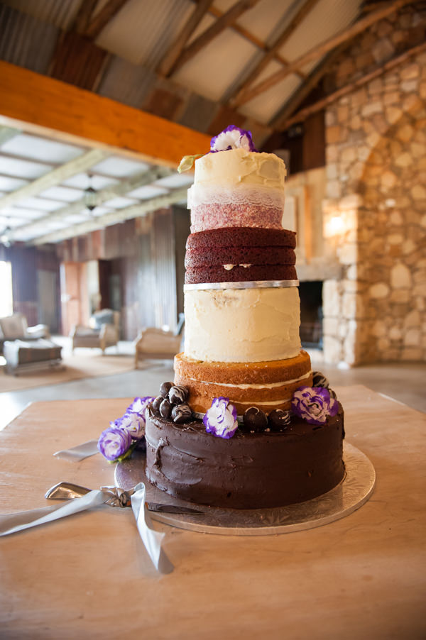 Colourful Layer Naked Cake Alice in Wonderland Forest Wedding in South Africa http://katforsyth.com/