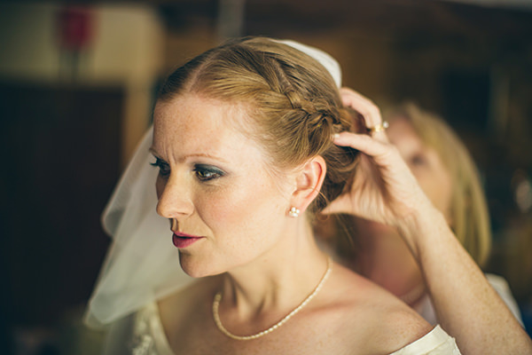Quirky Campsite Outdoor Wedding Plait Braid Bride Hair Style http://www.lifelinephotography.co.uk/