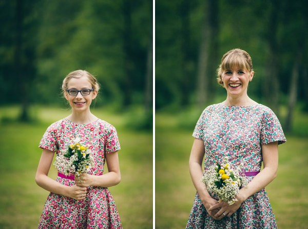 Quirky Campsite Outdoor Wedding Floral Liberty Print Bridesmaids http://www.lifelinephotography.co.uk/