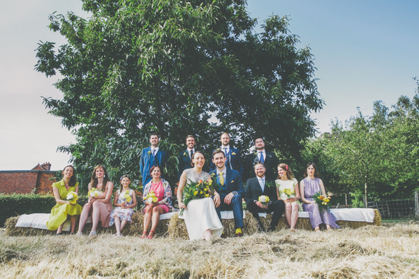 Creative Pom Pom Outdoor Wedding Mismatched Bridesmaids http://www.milliebenbowphotography.com/