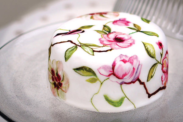 Flower Painted Wedding Party Cake MurrayMe