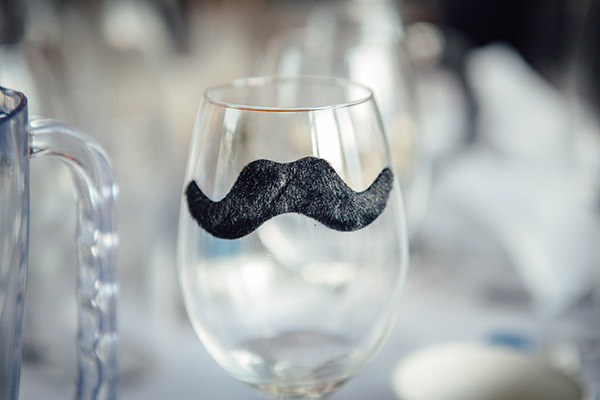 Fun Camping Country Outdoor Wedding Moustache Glass http://www.frecklephotography.co.uk/