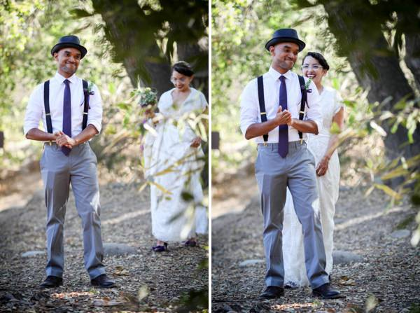 First Look Artistic Post-Apocalyptic Nature Woodland California Wedding http://www.lovatoimages.com/