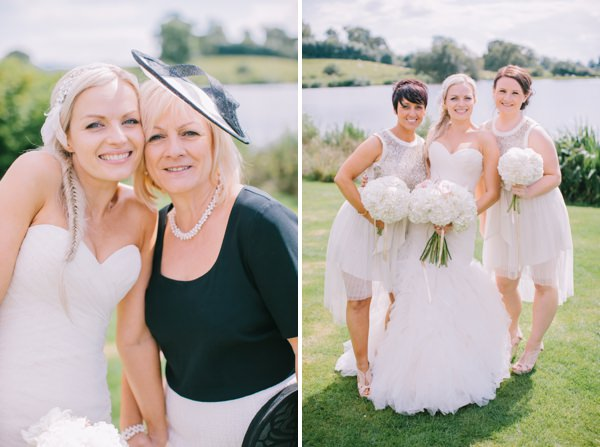 Stylish White DIY Floral Filled Barn Wedding Sequin Bridesmaids http://www.chrisbarberphotography.co.uk/