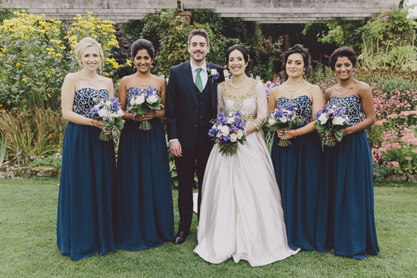 Beautiful English Indian Wedding Blue Bridesmaids http://www.scuffinsphotography.com/