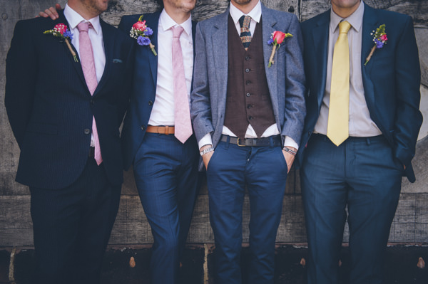 Classic Vintage Street Party Wedding Mismatched Groomsmen http://www.ilovestories.co.uk/
