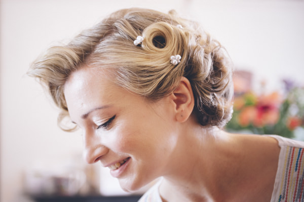 Classic Vintage Street Party Wedding Vintage Hair Style Bride http://www.ilovestories.co.uk/