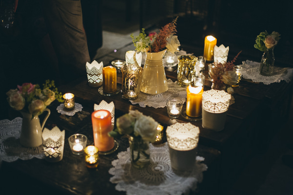 Luxe Traditional Pink Gold Wedding Candles Doilies  http://www.annataylorphotography.co.uk/