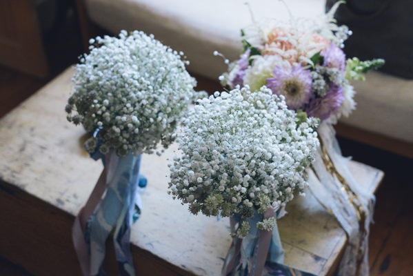 Baby Breath Bouquets Bridesmaids Eclectic DIY London Wedding http://chironcole.com/
