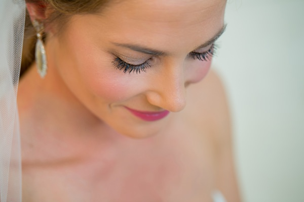 Simple Elegant Black Tie Minnesota Wedding Pretty Make Up Bride  Pink http://www.erinjohnsonphotoblog.com/