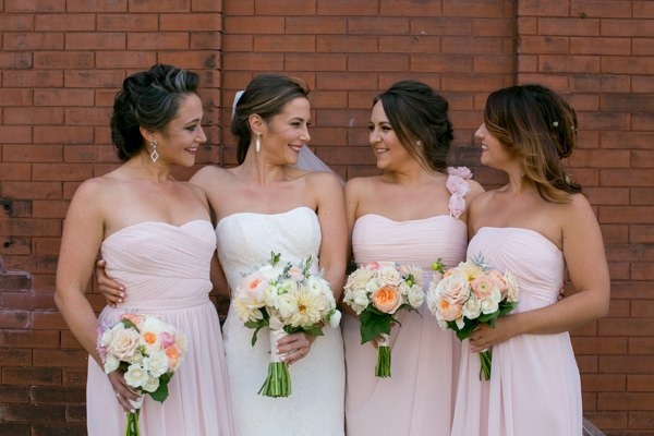 Simple Elegant Black Tie Minnesota Wedding Pink Bridesmaids http://www.erinjohnsonphotoblog.com/