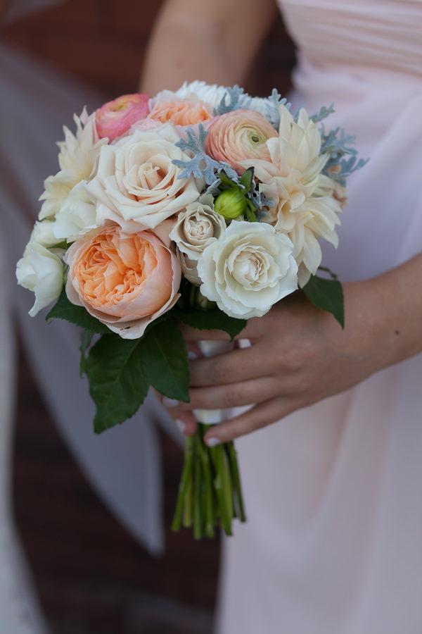 Simple Elegant Black Tie Minnesota Wedding Blush Pink Bridesmaid Bouquet http://www.erinjohnsonphotoblog.com/