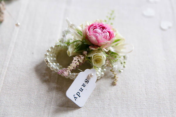 Wrist Corsage Magical Romantic Pink Green Fairy Lights Wedding http://www.touchphotography.co.uk/