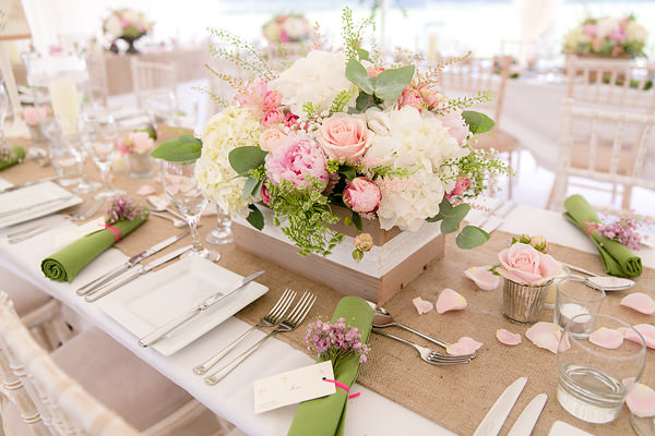 Magical Romantic Pink Green Fairy Lights Wedding Crate Flowers Peony Rose http://www.touchphotography.co.uk/