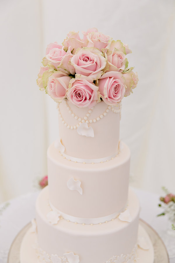 Magical Romantic Pink Green Fairy Lights Wedding Rose Tired Classic Cake http://www.touchphotography.co.uk/